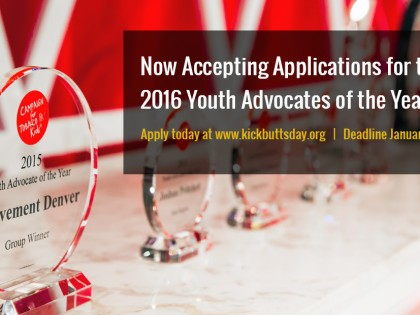 2016 Youth Advocates of the Year Awards Applications due January 31st